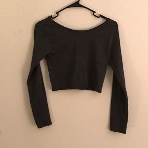Woman's long sleeve workout top
